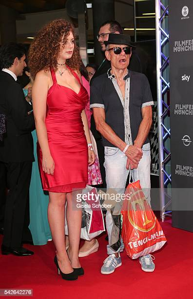 Leila Lowfire and Klaus Lemke during the opening night of the Munich Film Festival 2016 at Mathaeser Filmpalast on June 23 2016 in Munich Germany