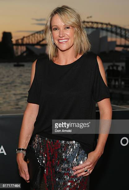 Leila McKinnon arrives ahead of opening night of Handa Opera's Turandot on March 24 2016 in Sydney Australia