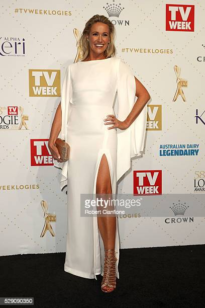 Leila McKinnon arrives at the 58th Annual Logie Awards at Crown Palladium on May 8 2016 in Melbourne Australia
