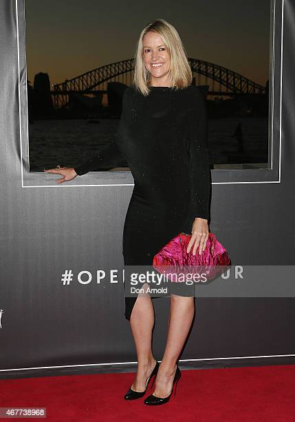 Leila McKinnon attends Handa Opera's Aida opening night at the Fleet Steps on March 27 2015 in Sydney Australia