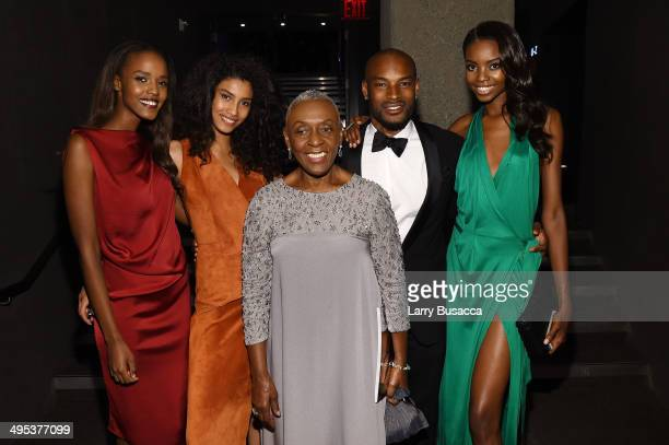 Leila Nda Imaan Hammam Bethann Hardison Tyson Beckford and Maria Borges attend the 2014 CFDA fashion awards at Alice Tully Hall Lincoln Center on...