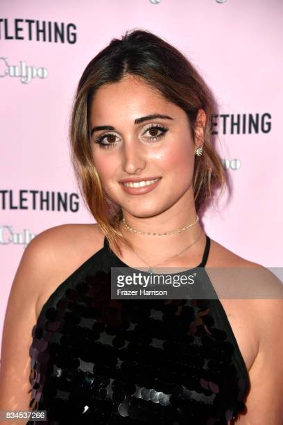 Leila Pari attends PrettyLittleThing X Olivia Culpo Launch at Liaison Lounge on August 17 2017 in Los Angeles California
