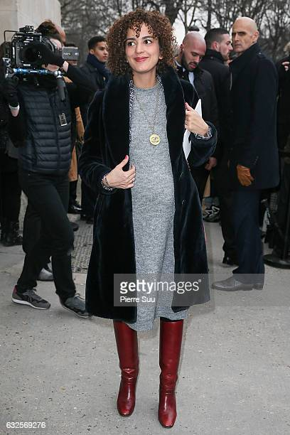 Leila Slimani arrives at the Chanel Haute Couture Spring Summer 2017 show as part of Paris Fashion Week on January 24 2017 in Paris France