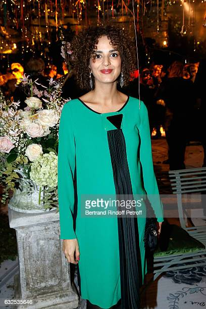 Leila Slimani attends the Christian Dior Haute Couture Spring Summer 2017 Bal Masque as part of Paris Fashion Week on January 23 2017 in Paris France