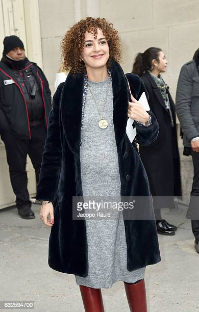 Leila Slimani is seen arriving at the Chanel Fashion Show during Paris Fashion Week Haute Couture F/W 20172018 on January 24 2017 in Paris France