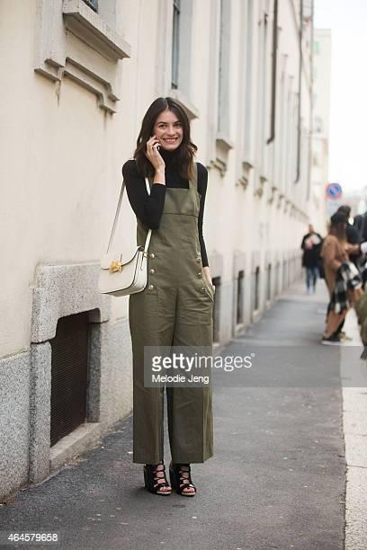 Leila Yavari of StyleBop on February 26 2015 in Milan Italy