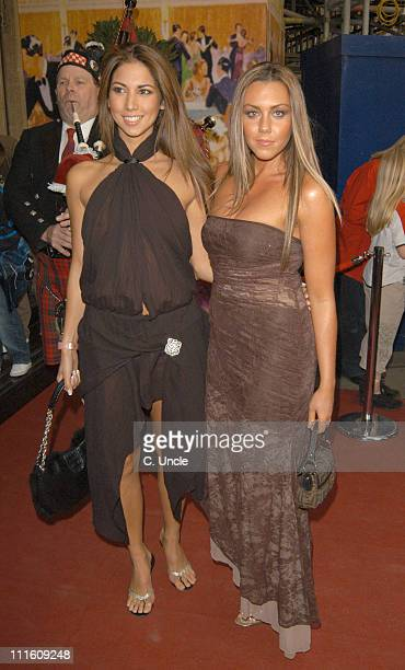 Leilani and Michelle Heaton during The 2005 PFA Awards Arrivals at Grosvenor House Hotel in London Great Britain