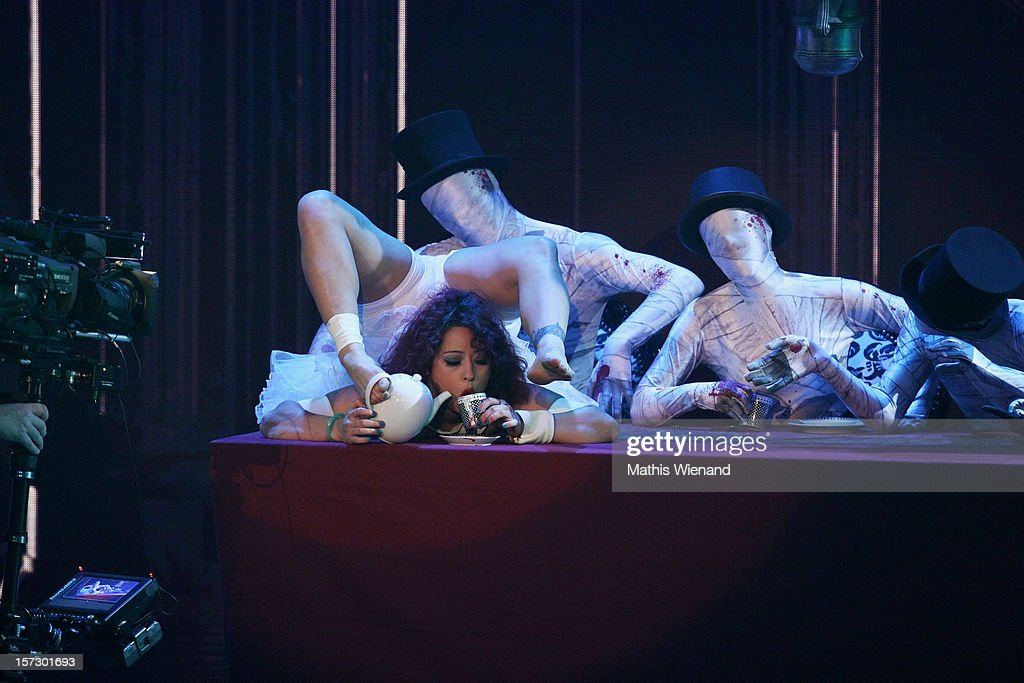 Leilani Franco attends the First Live Show of 'Das Supertalent' on December 1, 2012 in Cologne, Germany.