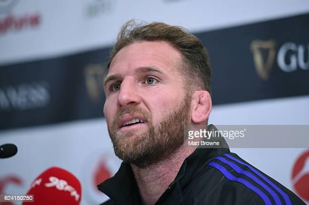 Leinster Ireland 18 November 2016 Kieran Read captain of New Zealand speaking during a press conference at the Aviva Stadium in Dublin