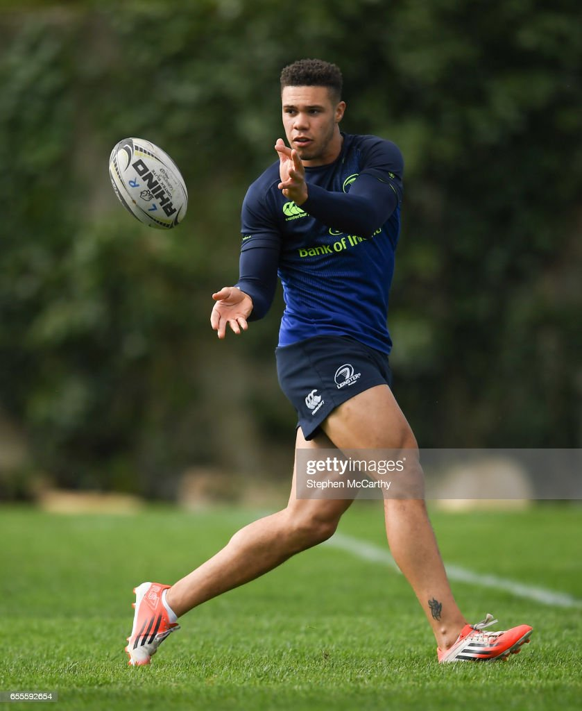 Leinster , Ireland - 20 March 2017; Adam Byrne of Leinster during squad training at UCD in Dublin.