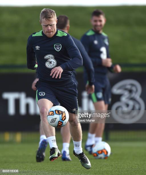 Leinster Ireland 20 March 2017 Daryl Horgan of Republic of Ireland in action during squad training at FAI National Training Centre in Abbotstown Co...