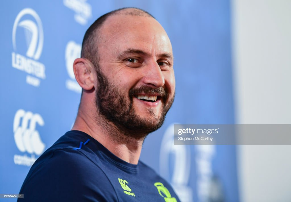 Leinster , Ireland - 20 March 2017; Hayden Triggs of Leinster during a press conference at Leinster Rugby headquarters in UCD, Dublin.