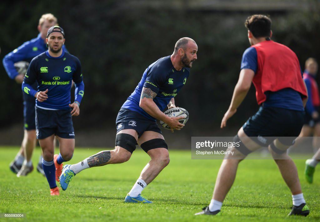 Leinster , Ireland - 20 March 2017; Hayden Triggs of Leinster during squad training at UCD in Dublin.