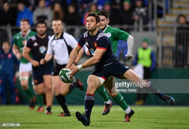 LEinster Ireland 24 February 2017 Theo Millet of France during the RBS U20 Six Nations Rugby Championship match between Ireland and France at...