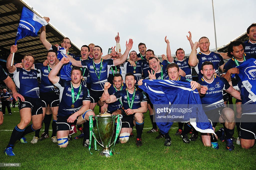 Leinster team celebrate victory during the Heineken Cup Final between Leinster and Ulster at Twickenham Stadium on May 19, 2012 in London, United Kingdom.