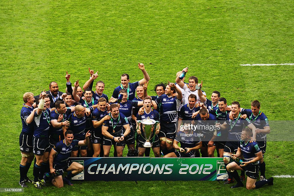 Leinster team celebrate victory following the Heineken Cup Final between Leinster and Ulster at Twickenham Stadium on May 19, 2012 in London, United Kingdom.