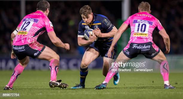 Leinster's Garry Ringrose in action during the European Rugby Champions Cup match between Exeter Chiefs and Leinster Rugby at Sandy Park on December...