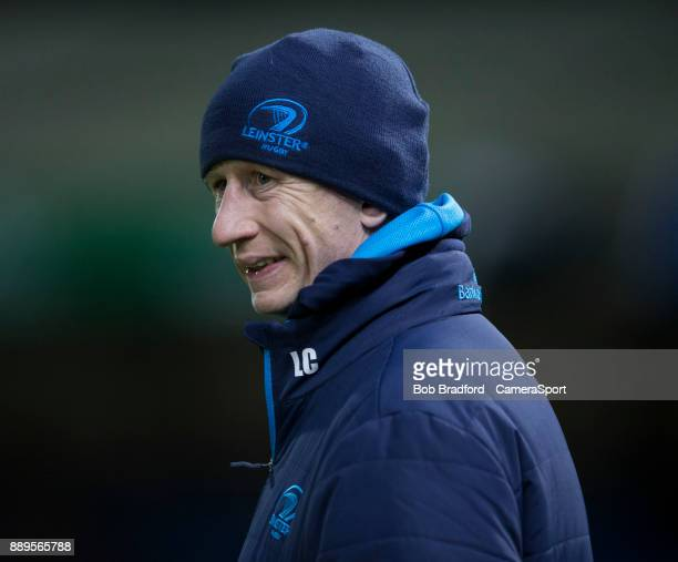 Leinster's Head Coach Leo Cullen during the European Rugby Champions Cup match between Exeter Chiefs and Leinster Rugby at Sandy Park on December 10...
