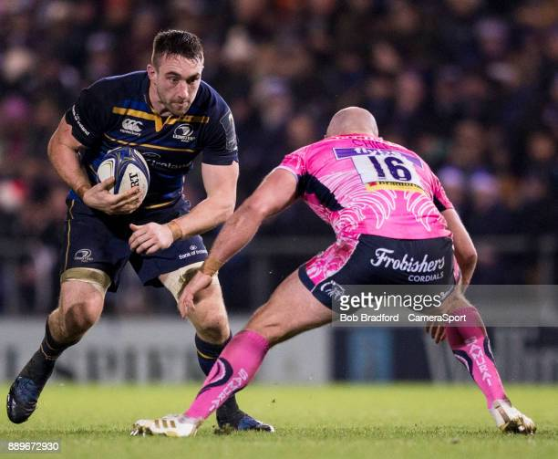 Leinster's Jack Conan in action during the European Rugby Champions Cup match between Exeter Chiefs and Leinster Rugby at Sandy Park on December 10...