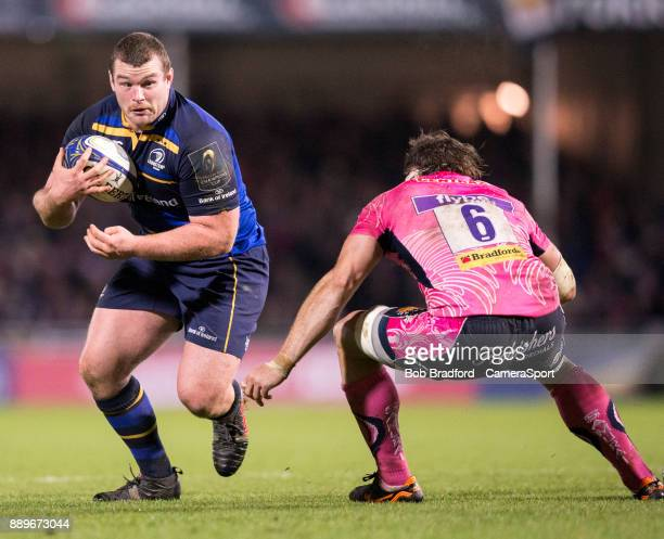 Leinster's Jack McGrath in action during the European Rugby Champions Cup match between Exeter Chiefs and Leinster Rugby at Sandy Park on December 10...