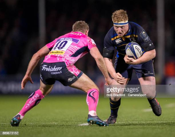 EXETER ENGLAND DECEMBER Leinster's James Tracy in action during the European Rugby Champions Cup match between Exeter Chiefs and Leinster Rugby at...