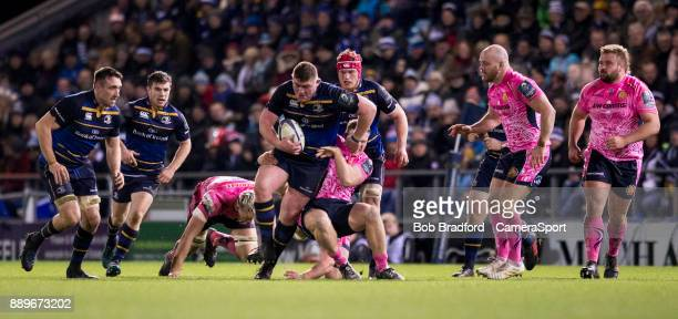 Leinster's Tadhg Furlong in action during the European Rugby Champions Cup match between Exeter Chiefs and Leinster Rugby at Sandy Park on December...
