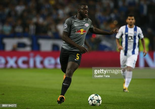 Leipzig defender Dayot Upamecano from France in action during the UEFA Champions League match between FC Porto and RB Leipzig at Estadio do Dragao on...