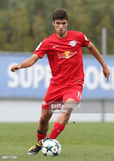 Leipzig forward Elias Abouchabaka from Germany in action during the UEFA Youth League match between FC Porto and RB Leipzig at Centro de Estagios do...