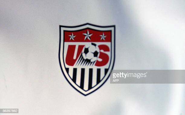 Picture showing the logo of the United States of America football federation taken 09 december 2005 in Leipzig AFP PHOTO