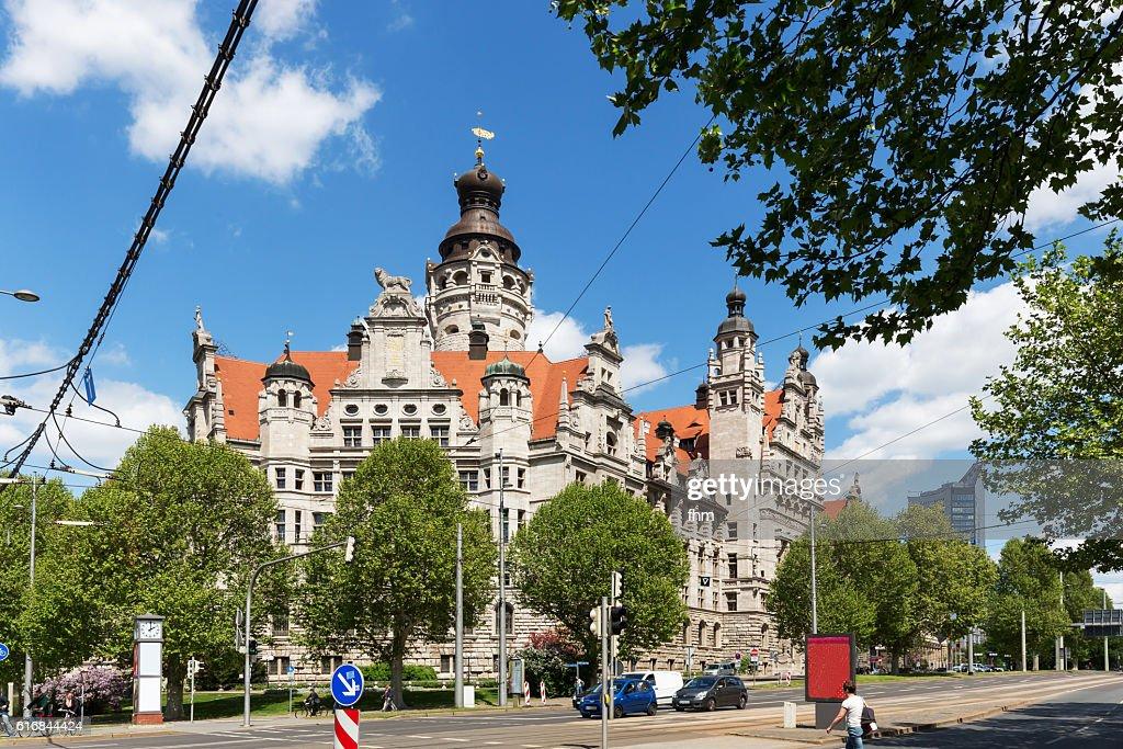 Leipzig new city hall (Neues Rathaus) : Stock Photo