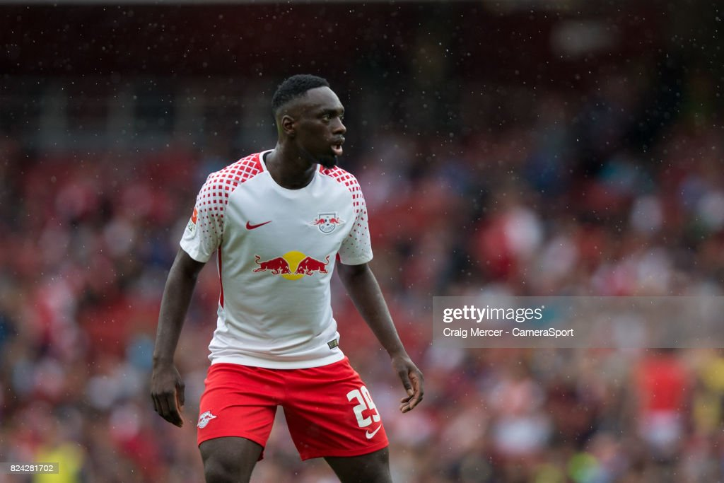 RB Leipzig's Jean-Kevin Augustin during the Emirates Cup match between RB Leipzig and Sevilla FC at Emirates Stadium on July 29, 2017 in London, England.