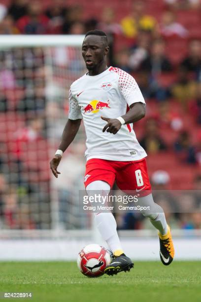 Leipzig's Naby Keita in action during the Emirates Cup match between RB Leipzig and Sevilla FC at Emirates Stadium on July 29 2017 in London England