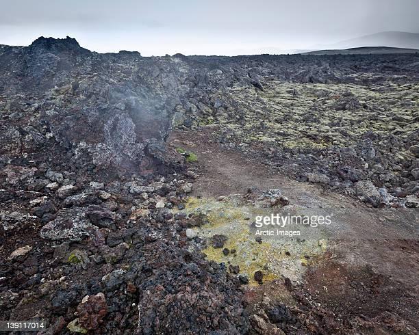 Leirhnjukur geothermal volcanic region