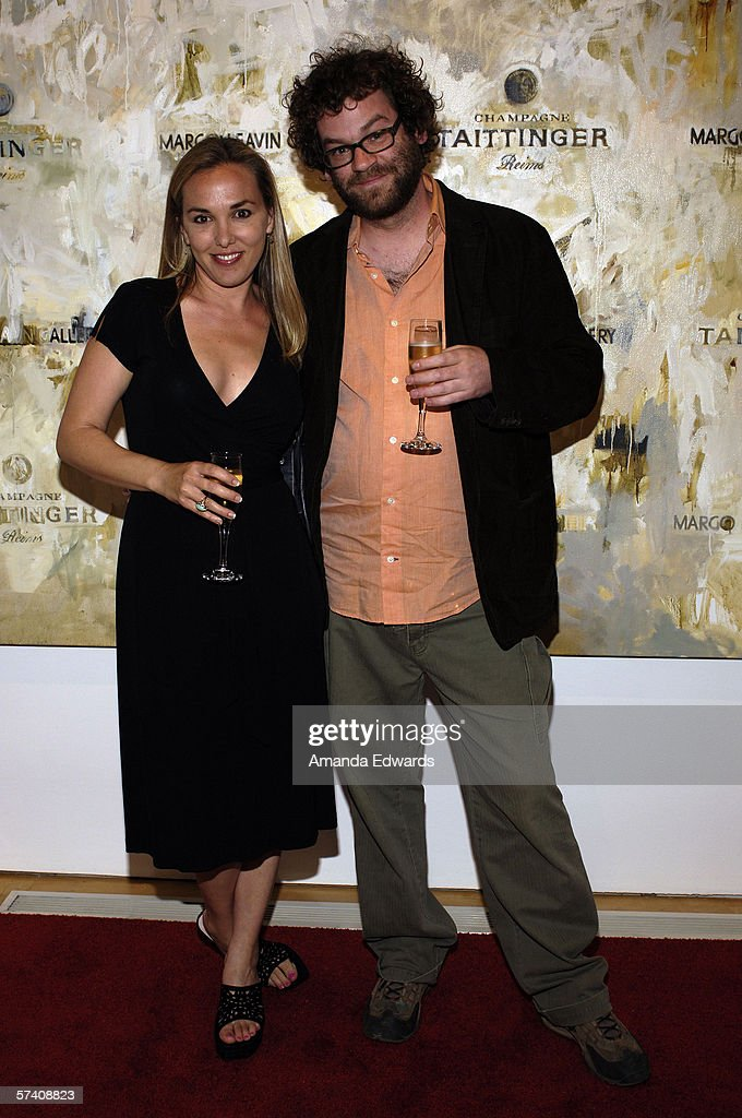 Leisa Inman and Jason Meadows attend the opening of artist Delia Brown's 'Double Self-Portraits And Step & Repeat' exhibition at the Margo Leavin Gallery on April 20, 2006 in West Hollywood, California.