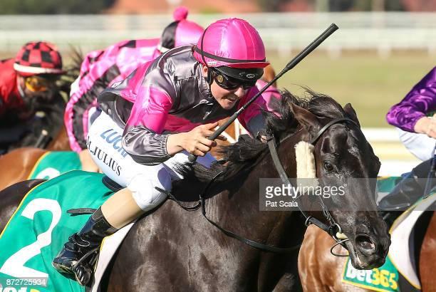 Leishman ridden by Melissa Julius wins the Ballan District Health Care 0 58 Handicap at Geelong Racecourse on November 11 2017 in Geelong Australia
