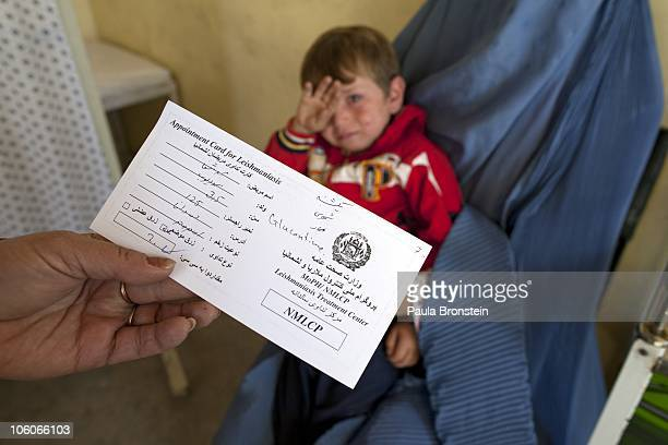 A leishmaniasis patient is registered at a free specialized clinic for leishmaniasis supported by World Health Organization October 25 2010 in Kabul...