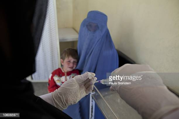 A leishmaniasis patient is treated at a free specialized clinic for leishmaniasis supported by World Health Organization October 25 2010 in Kabul...