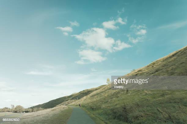 A leisure walk at the Salisbury Crags, Holyrood Park, Edinburgh