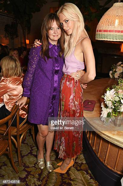 Leith Clark and Poppy Delevingne attend a dinner party hosted by Leith Clark to celebrate the latest issue of her biannual style bible 'Violet'...