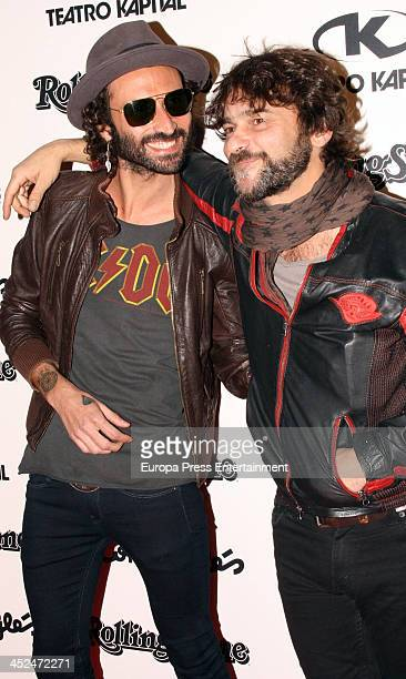 Leiva and Quique Gonzalez attend the Rolling Stone Magazine Awards 2013 on November 28 2013 in Madrid Spain