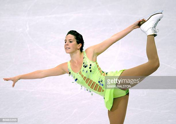 Lejeanne Marais from South Africa performs during the Women's Short program event of the 2009 World Figure skating Championships at the Staples...
