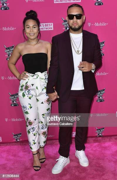 Lejuan James arrives at the TMobile Presents Derby After Dark at Faena Forum on uly 10 2017 in Miami Beach Florida