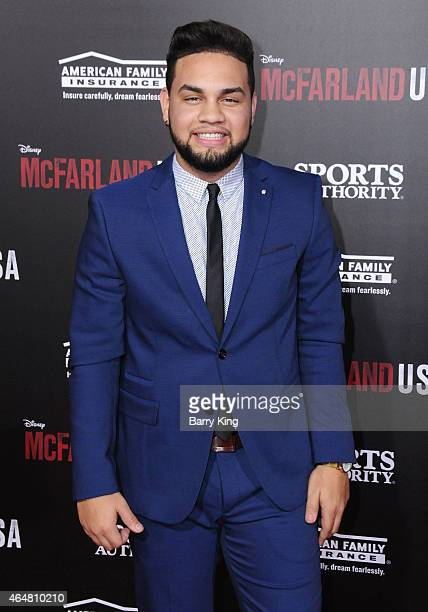 LeJuan James arrives at the world premiere of 'McFarland USA' at the El Capitan Theatre on February 9 2015 in Hollywood California
