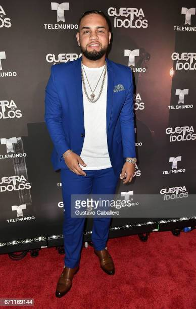LeJuan James attends the Telemundo Premiere Of 'Guerra De Idolos' at The Temple House on April 20 2017 in Miami Beach Florida