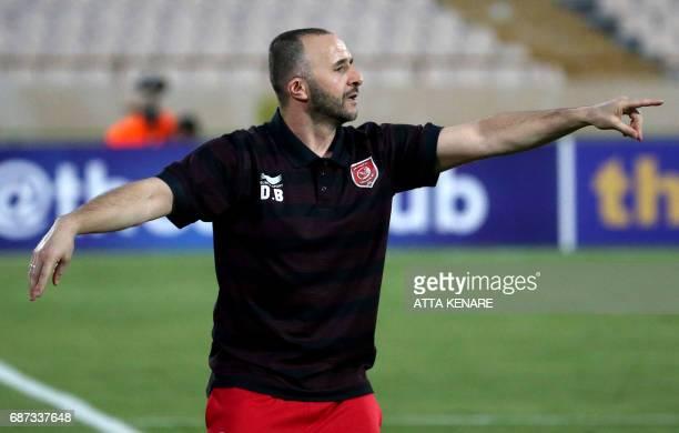 Lekhwiya's Jamal Belkadi reacts during the Asian Champions League football match between Qatar's Lekhwiya SC and Iran's Persepolis FC at the Azadi...