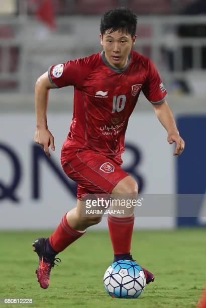 Lekhwiya's player Nam TaeHee controls the ball during the AFC Champions League football match between Qatar's Lekhwiya and Saudi Arabia's AlFateh on...