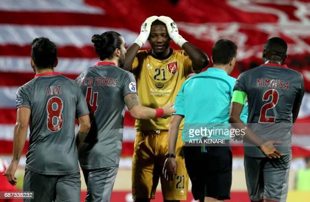 Lekhwiya's Qasem Abdullhamed reacts during the Asian Champions League football match between Qatar's Lekhwiya SC and Iran's Persepolis FC at the...