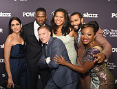 Lela Loren Curtis '50 Cent' Jackson Joseph Sikora Courtney Kemp Agboh Omari Hardwick and Naturi Naughton attend 'Power' Season Two Series Premiere at...