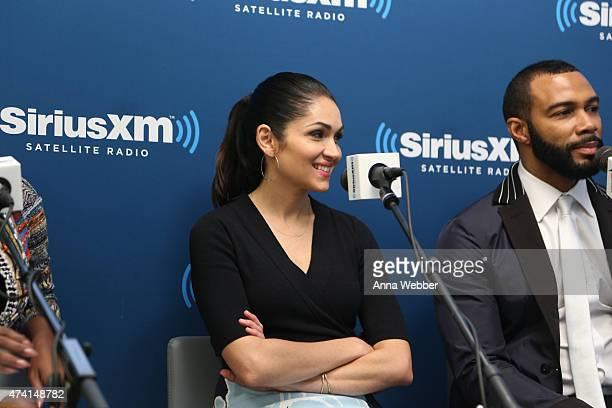 Lela Loren visits SiriusXM Urban View with Karen Hunter at SiriusXM Studios on May 20 2015 in New York City