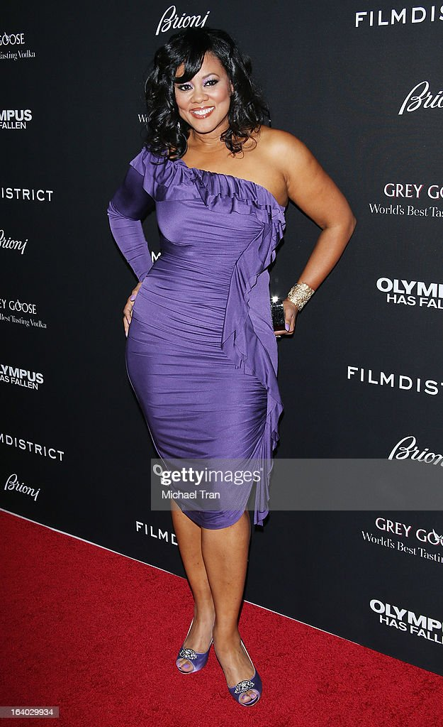 Lela Rochon arrives at the Los Angeles premiere of 'Olympus Has Fallen' held at ArcLight Cinemas Cinerama Dome on March 18, 2013 in Hollywood, California.